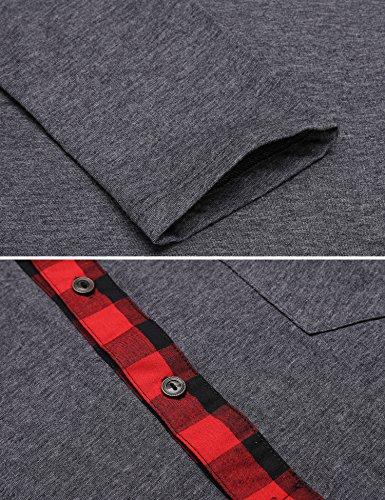 Burlady Poloshirt Tshirt Herren Polohemd Langarmshirt Sweatshirt Sport Langarm Shirts Freizeit Polokragen Männer Viele Stile A-Dunkelgrau
