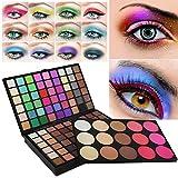 Lidschatten| Make-up Paletten| Glitzer für die Augen | WINWINTOM 123 Farbe Kosmetik Matte Lidschatten Creme Lidschatten Make-up Palette Schimmer Set