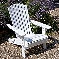 Plant Theatre Adirondack Klappstuhl Hartholz Stuhl–weiß lackiert–Hervorragende Qualität