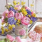 20 Servietten Blumen in Pott Frühling Feier Event Anlass Sommer 33 x 33cm