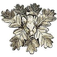 Fritz Muñeco Macizo Pesado Keiler Armas Portada Hojas de Roble Trofeo de Caza verzierung Varios Motivos, 7 Eichenblätter mit Keilerkopf, Medium