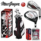 Macgregor CG1900 Mens Complete Golf Club Set New Steel Shafted Irons Cart Bag FREE GOLF BALLS & GOLF SOCIETY PACK