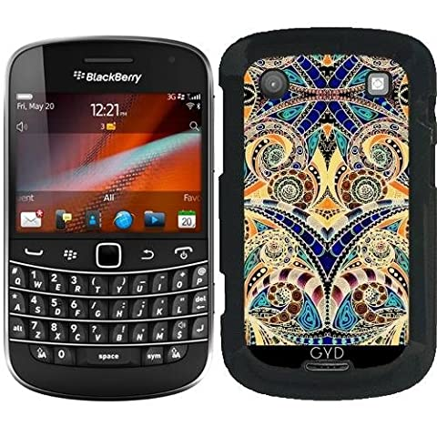 Coque pour Blackberry Bold 9900 - G7 Dessin Floral Zentangle by Medusa GraphicArt