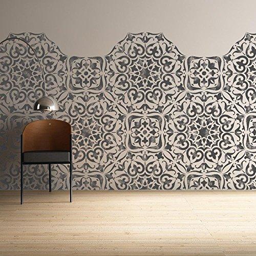 mysuru indio plantilla–muebles de pared piso muebles de plantilla para pintar–tamaño grande