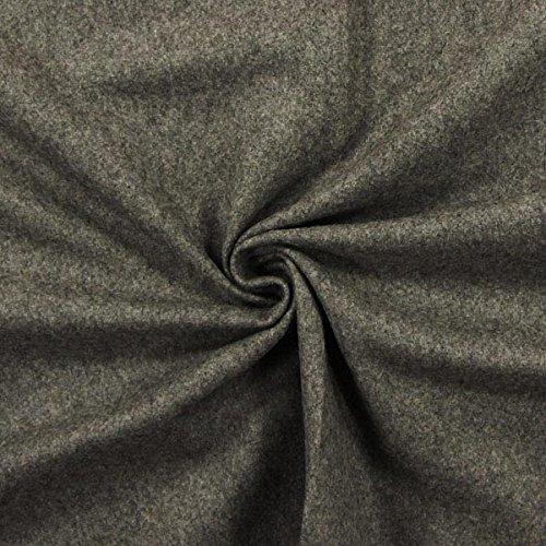 Fabulous Fabrics Thermostoff Woll Mix grau - Meterware ab 0,5m - zum Nähen von Vorhänge und Homeaccessoires