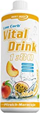 Best Body Nutrition - Low Carb Vital Drink, Pfirsich-Maracuja, 1000 ml Flasche