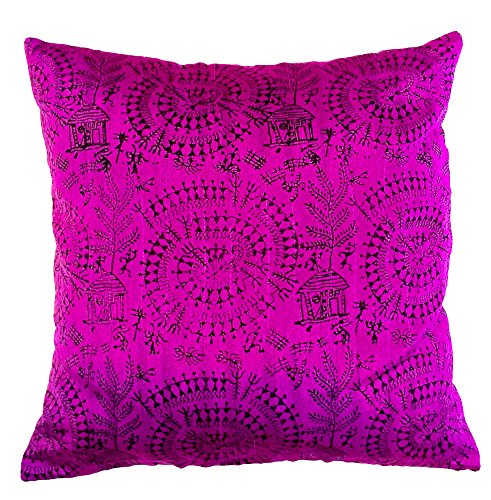 the-indian-promenade-16-x-4064-cm-warli-paolin-algodon-para-cojin-color-morado