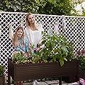 Hochbeet für Terrassen / Garten. 120x60x75 cm. Farbe: Schokolade