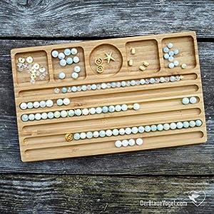 Armband-Perlenbrett aus Holz für Armbänder bis 22,5 cm Länge (Bead Design Board, Schmuckbrett, Schmuckmatte, Vorlegebrett)
