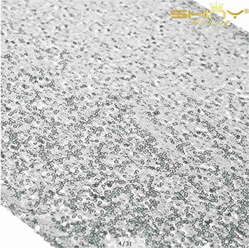 Schwarz Pailletten Tischläufer 30 x 180 cm Pailletten Tischdecke machen glänzender Eleganter schwarz Pailletten Tischläufer, Pailletten Bettwäsche für Geburtstag/Party/Hochzeit D cor Silver Co