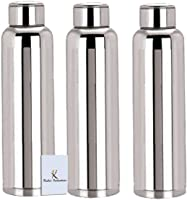 Kuber IndustriesTM Stainless Steel 3 Pcs Fridge Water Bottle/Refrigerator Bottle/Thunder -CTKTC6003