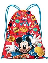 Karactermania Mickey Mouse Jump Bolsa de Cuerdas Para El Gimnasio, 35 cm, Rojo