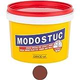 MODOSTUC Mogano professionele kit van pasta klaar voor gebruik binnenshuis, ideaal voor hout en muur, sneldrogend en perfecte