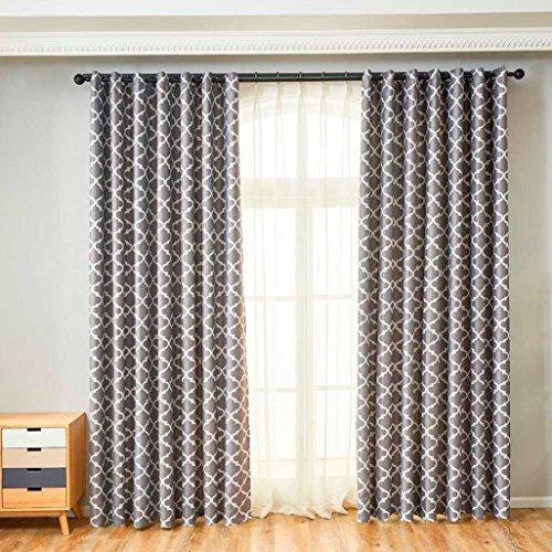 Türkei 1-Vorhang Tüll Voile Tür Fenster Vorhänge mit Trennwand Schal-Behandlung, zum Aufhängen, Stoff Vorhang Volant 78,7cm x 39,4cm grau