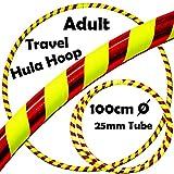 PRO Hula Hoops (Ultra-Grip / Glitter Deco) Gewichtetes TRAVEL Hula Hoop (100cm / 39 ') Hula Hoops Für Übung, Tanz & Fitness! (640g) KEINE Anleitung gebraucht - gleicher Tag Versand! (Roter / Gelb Glitzer)