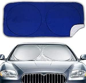 Big Hippo Auto Sonnenschutz Für Frontscheiben Sonnenschutz Auto Für Windschutzscheibe Sonnenblende Auto Frontscheibe Für Uv Schutz Flexible Größe Für Auto Suv Lkw Sliver Auto