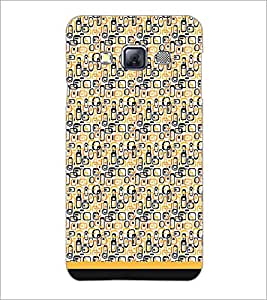PrintDhaba Shapes Pattern D-1693 Back Case Cover for SAMSUNG GALAXY A3 (Multi-Coloured)