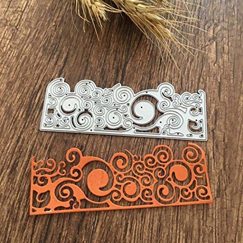 (QUINTRA Metall Stanzformen Schablonen für DIY Scrapbooking Fotoalbum Papier Karte Geschenk (M))