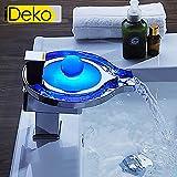 iDeko® Robinet Mitigeur de lavabo cascade LED & Flexible x 2