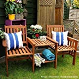 garden mile® Acacia Hardwood Garden Love Seat Twin Jack And Jill Seat With square Table. Wooden Garden Bench Companion…
