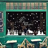 Malloom Noël Magasin Fenêtre Décoration Stickers Muraux NoëlFlocons De Neige Ville...