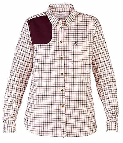 Fjällräven sörm Pays Flannel LS W–T-Shirt à manches longues en flanelle de coton doux, léger L Chalk White (113)