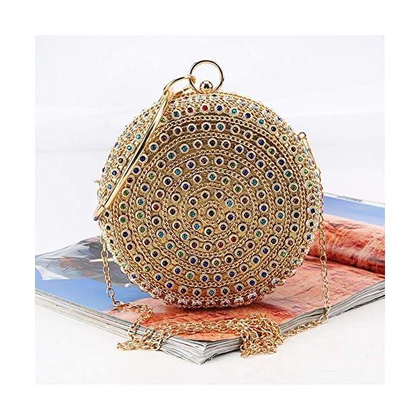61pfae6yd1L. SS600  - HARPIMER Mujer Monedero de embrague de bolso de noche de cristal de diamantes de imitación multicolor para boda y fiesta
