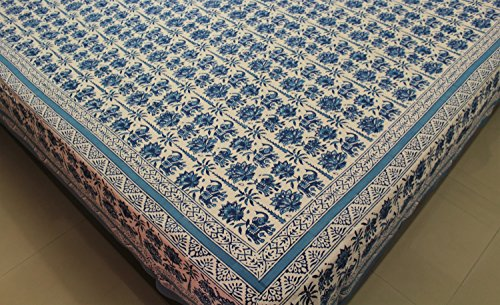 Indian Cotton Super King Bedspreads Hand Block Print Large