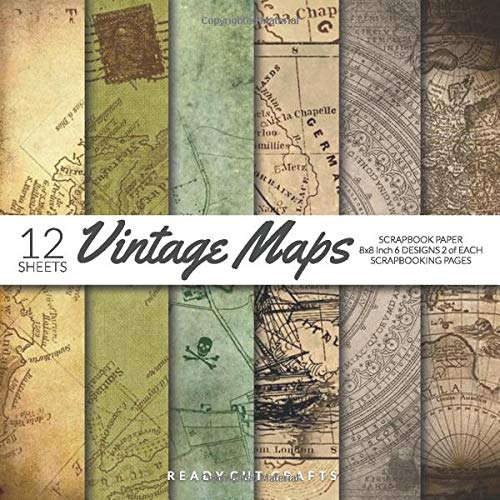 Vintage Maps Scrapbook Paper 8x8 Inch Scrapbooking Pages: Decorative Craft Papers, Old Antique Map Collection 1, For Papercraft Cardmaking Collage Sheets (Kraft Origami-papier)