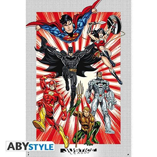ABYstyle Póster de la Liga de la Justicia DC Comics (91,5 x 61)