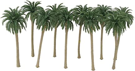 Generic Green Model Coconut Palm Trees 1/150 7 Cm - 20Pcs