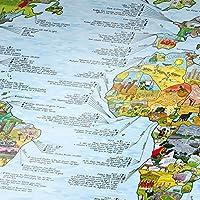 Fussball Weltkarte von Awesome Maps / Ausführung: Englisch