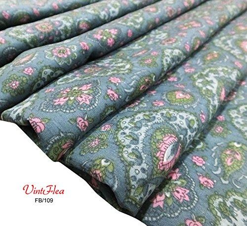 vintage Seidensari Mischgewebe gefertigt Material indian Saree Kleid verwendet 45