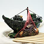 Dimart Simulation Lifelike Artificial Resin Dead Tree Trunk Landscaping Aquarium Ornaments for Fish Tank Grey 12