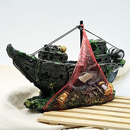 Dimart Simulation Lifelike Artificial Resin Dead Tree Trunk Landscaping Aquarium Ornaments for Fish Tank Grey 4