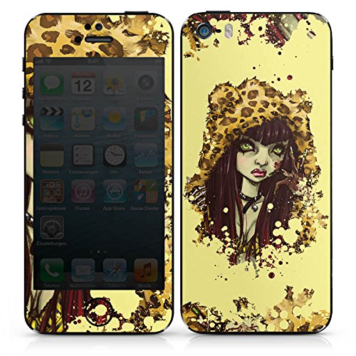 Apple iPhone 5s Case Skin Sticker aus Vinyl-Folie Aufkleber Comic Leo Mädchen DesignSkins® glänzend