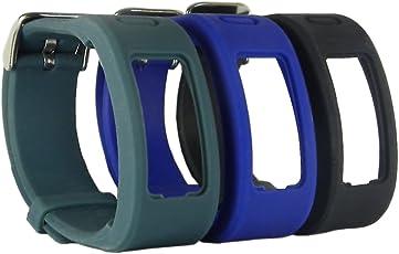 hopcentury Einheitsgröße Ersatz Garmin Vivofit Band Armband Zubehör Gurt mit Metall-Verschluss Schnalle für Garmin Vivofit 3Pack