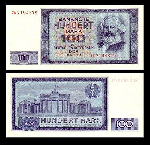 *** 2 Stück 100 DDR Mark Mark Geldscheine 1964 Alte Währung - Reproduktion ***