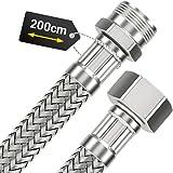 Raccord flexible pour tuyau d'arrosage 200 cm avec écrou 1/2 et filetage mâle