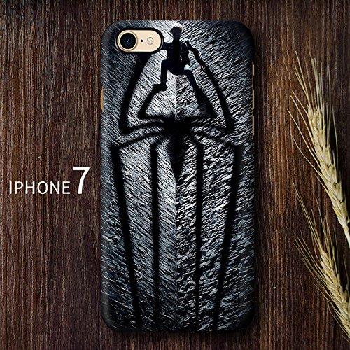 iPhone cases Disney personnage de dessin animé SUPER HERO souple en TPU Coque de protection pour Apple iPhone 7 Plus, CAPTAIN AMERICA SPIDER MAN 1
