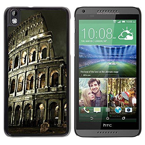 Graphic4You Rome Colosseum Postkarte Ansichtskarte Design Harte Hülle Case Tasche Schutzhülle für HTC Desire 816