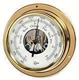 Barigo Marine Schiffsbarometer Tempo Messing