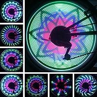 36 RGB LED 32 modelli della lampada della rotella Luce della bicicletta Bici bicicletta ha parlato la