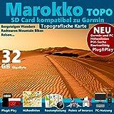 ?Marokko Topo Karte Höhenlinien microSD für Garmin Montana & Monterra ?