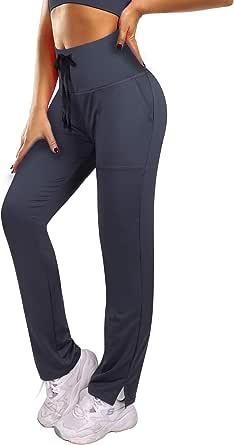 3W GRT Pantaloni Sportivi Donna, Donna Pantaloni Yoga, Vita Alta Pantalone Pilates