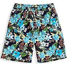 HAIYOUVK Shorts Men'S Casual Sports Five Minutes Big Pants Summer Seven Loose Seaside Resort Quick-Drying Men'S Beach Pants,Xxxxl,Ten Peach,Xxxxl,Ten Miles Peach Blossoms