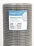 Kraptrap® Volierendraht Käfigdraht Drahtgitter Breite 50cm 5m 12x12