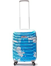 SKYBAGS Troopers Teal Blue HIGH Grains Polycarbonate 4W Latest 2019 HARDSIDED Luggage (Small 55 cm)