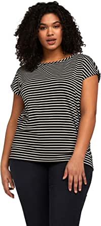 Fiorella Rubino: T-Shirt a Righe Lurex Nero