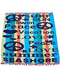 XZANTE Poliester Letra Graffiti 7 Color Playa Cuerpo Yoga Mat Viajes del Colgante de Pared Bano Natacion Toalla Cubra…